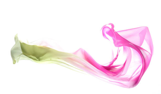 Flying graduated silk from green to pink http://www.gunaymutlu.com/iStock/backgrounds-360.jpg floating fabric stock pictures, royalty-free photos & images