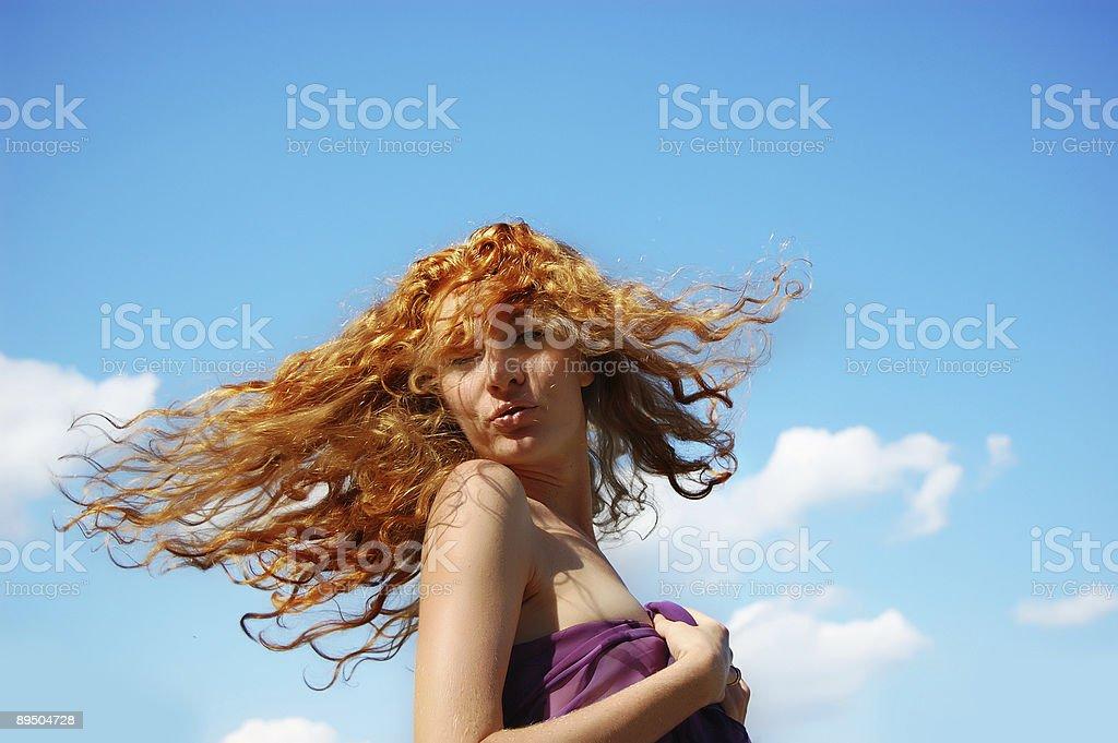 Flying cabello foto de stock libre de derechos