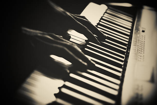 flying hands playing, keyboard, piano, jazz, blues, keyboard player stock pictures, royalty-free photos & images