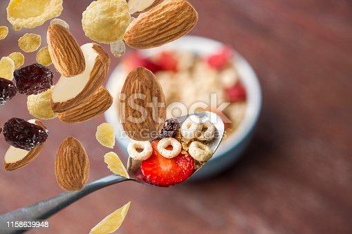 Flying healthy breakfast ingredients