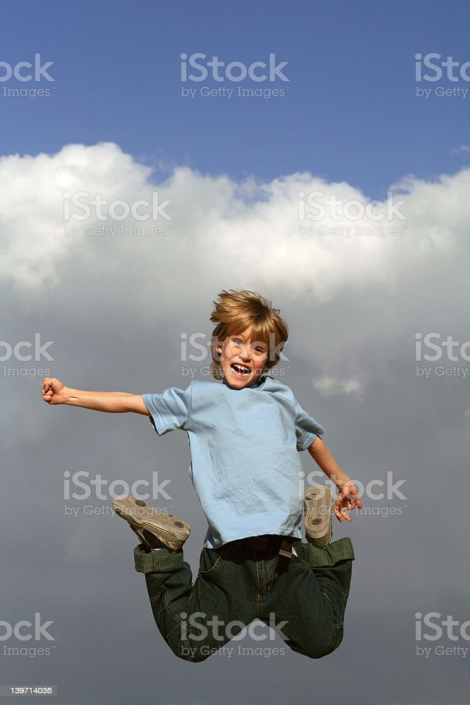 flying high(SEE below more jumping images) royalty-free stock photo