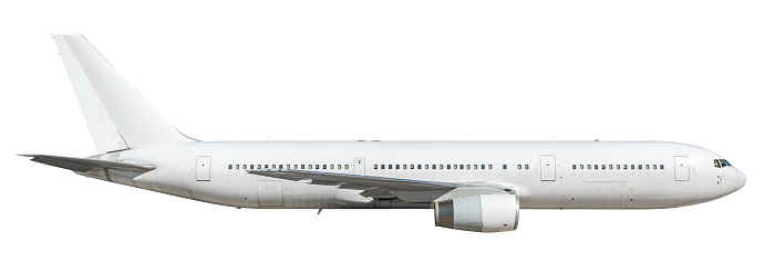 Blank airplane isolated on white