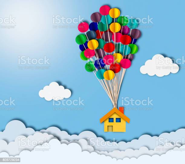 Flying house over clouds paper cutting style picture id825729234?b=1&k=6&m=825729234&s=612x612&h=8dxkhz6dvhw2vhflv8d0mkmkhkneg5tawxj3xgbmsnk=