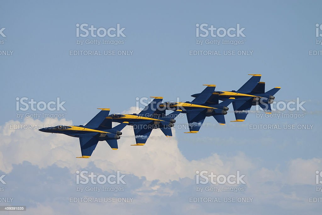 Flying In Formation royalty-free stock photo
