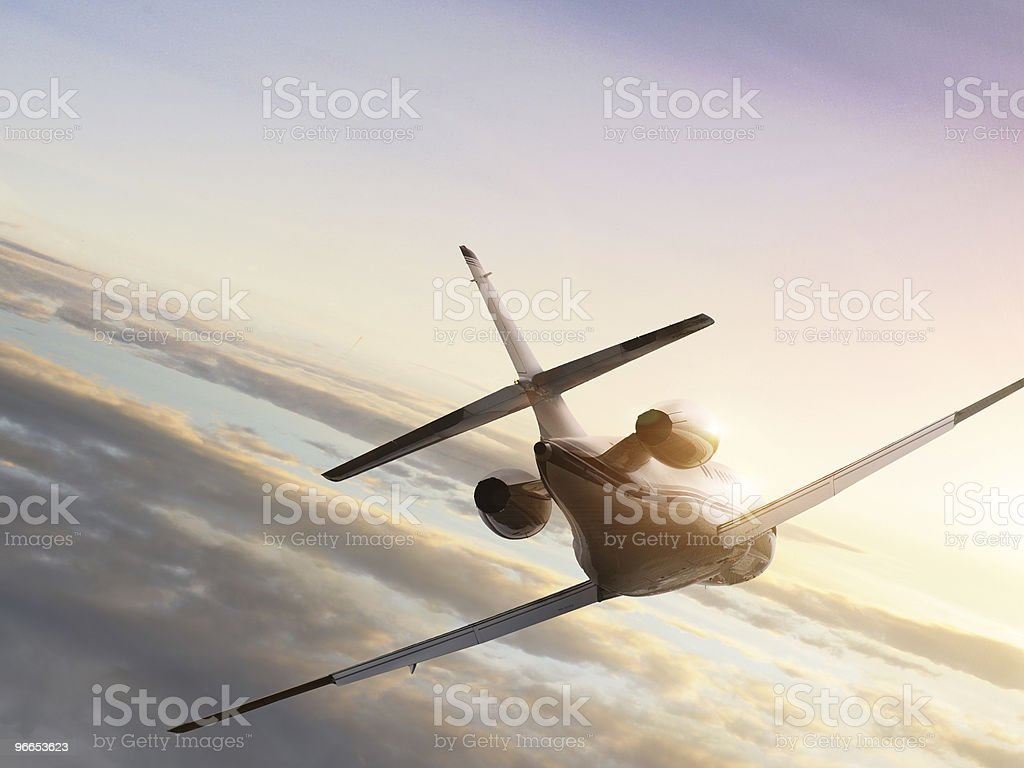 Flying in sky stock photo