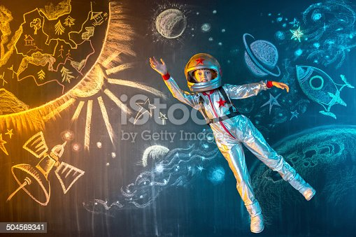 istock Flying in space 504569341
