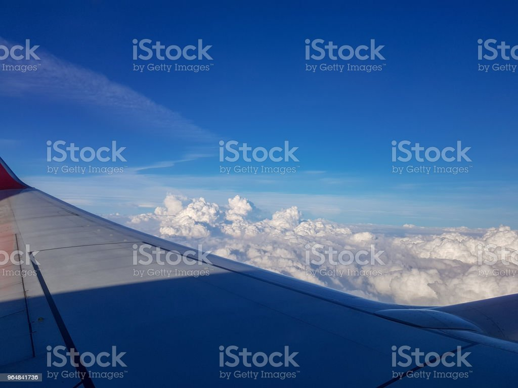 Flying in the sky and the sea of clouds. royalty-free stock photo