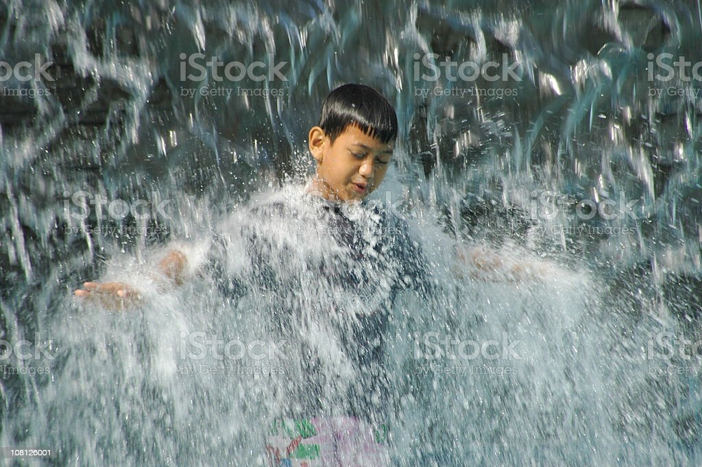 Flying in the water royalty-free stock photo