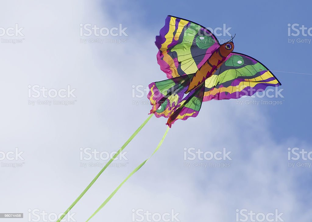 Flying into the blue royalty-free stock photo
