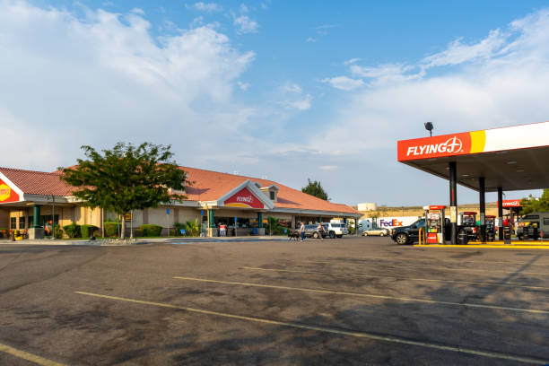 Flying J Travel Center located in Barstow, California stock photo