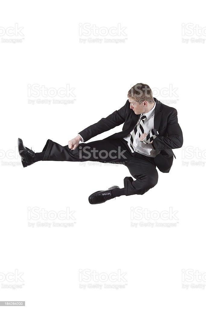 Flying kick royalty-free stock photo