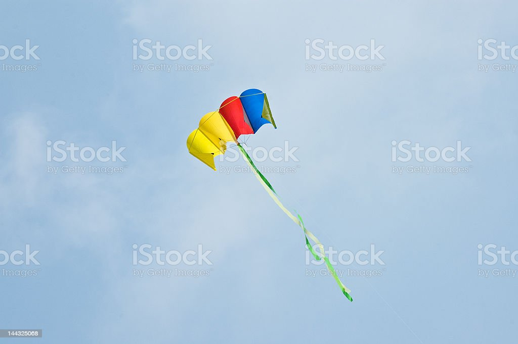 Flying kite royalty-free stock photo