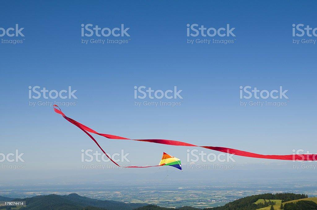 Fliegender kite – Foto