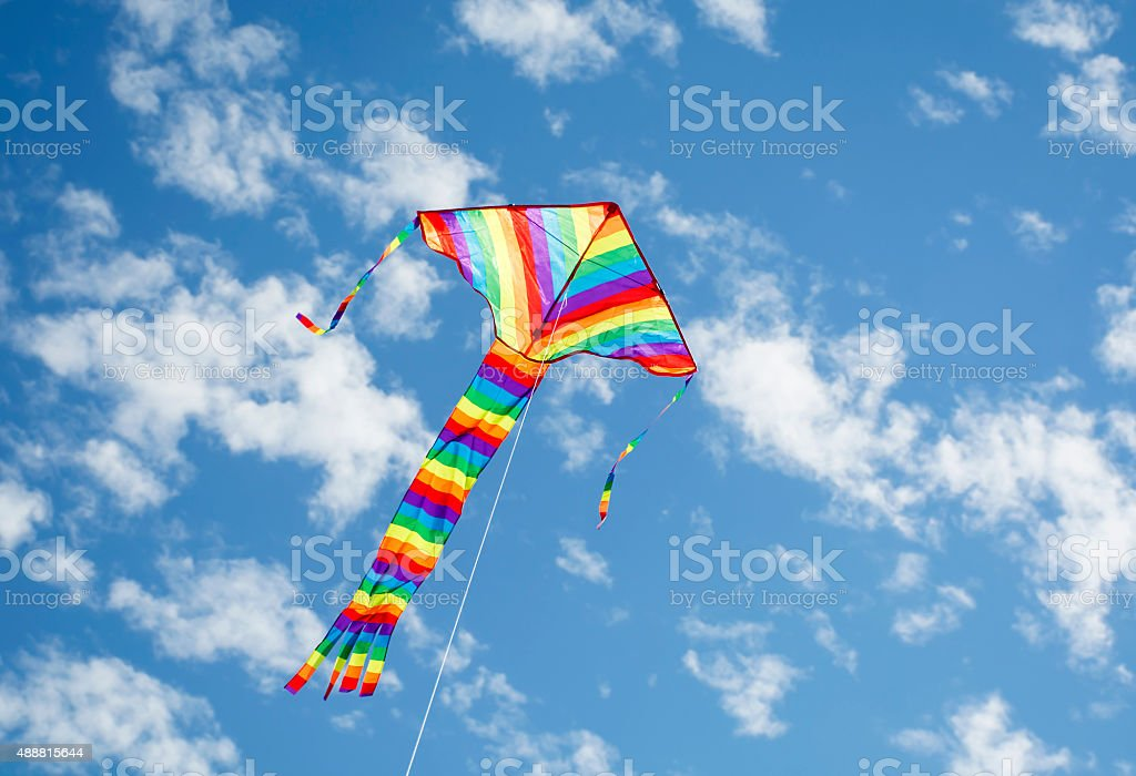 Flying kite Flying kite 2015 Stock Photo