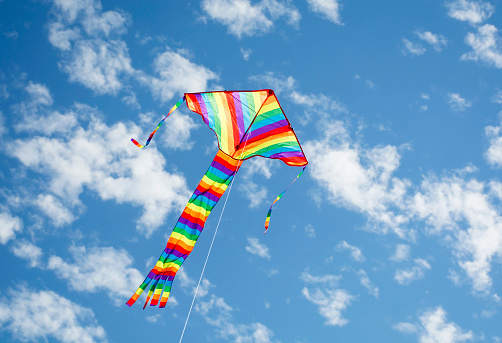 Flying Kite Stock Photo - Download Image Now