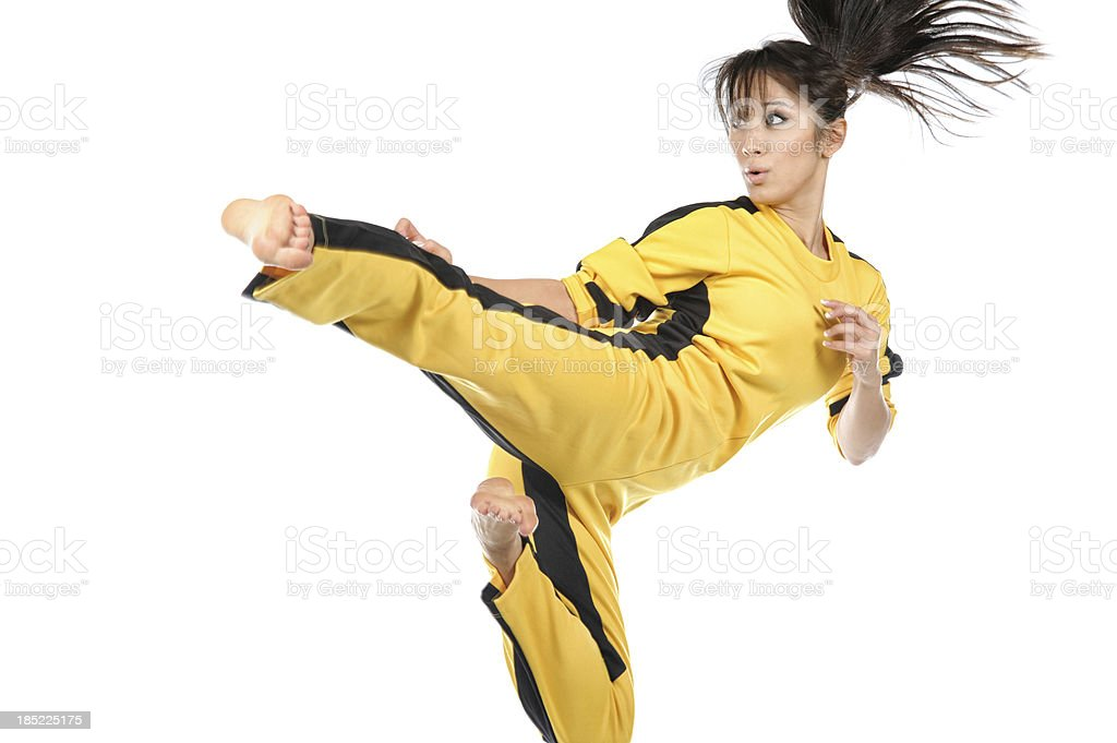Flying Kung Fu royalty-free stock photo