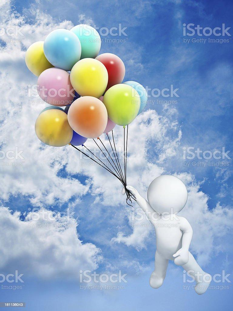 Flying man royalty-free stock photo