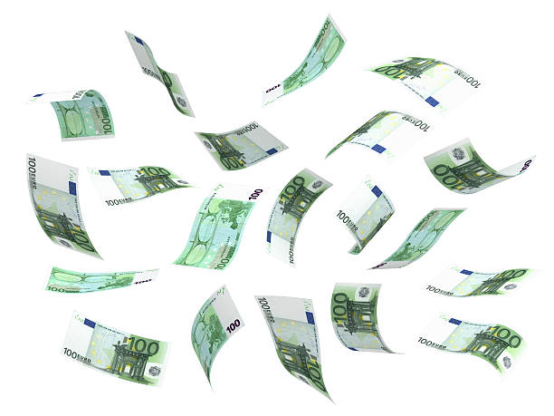 Flying Money (Euro) stock photo