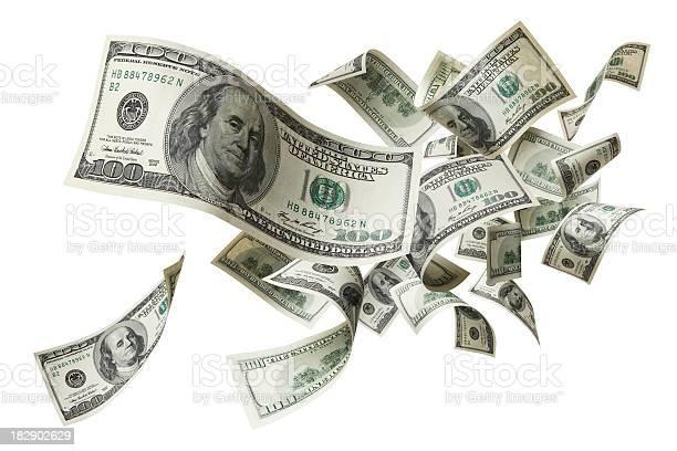 Photo of flying money