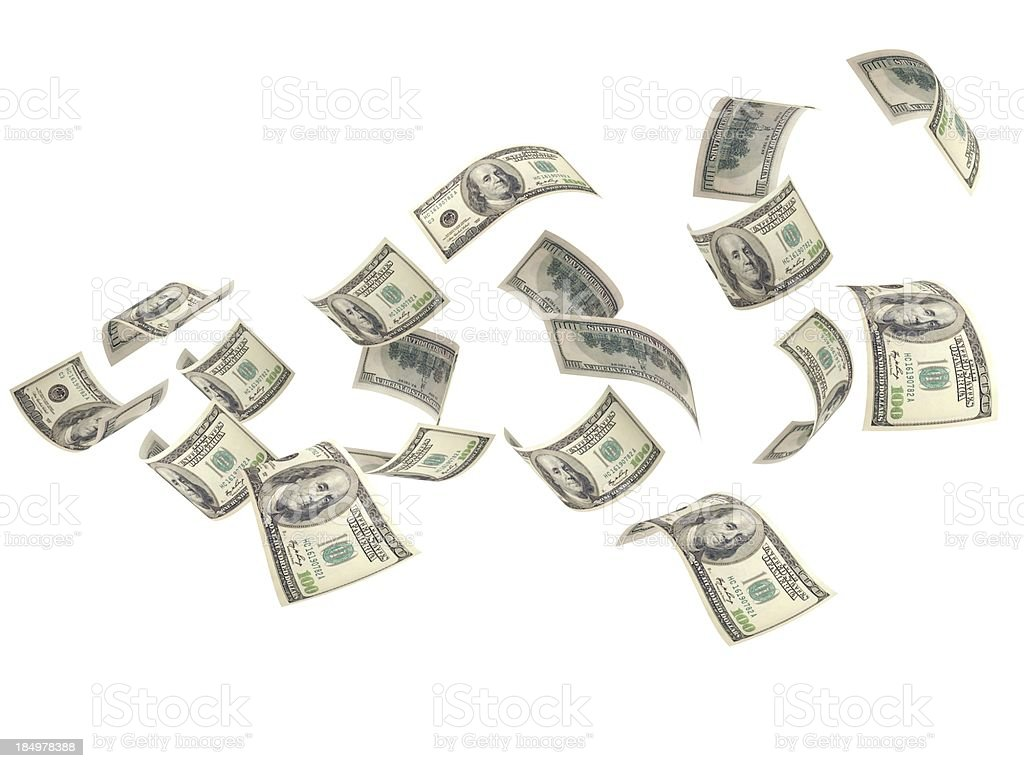 Flying Money royalty-free stock photo