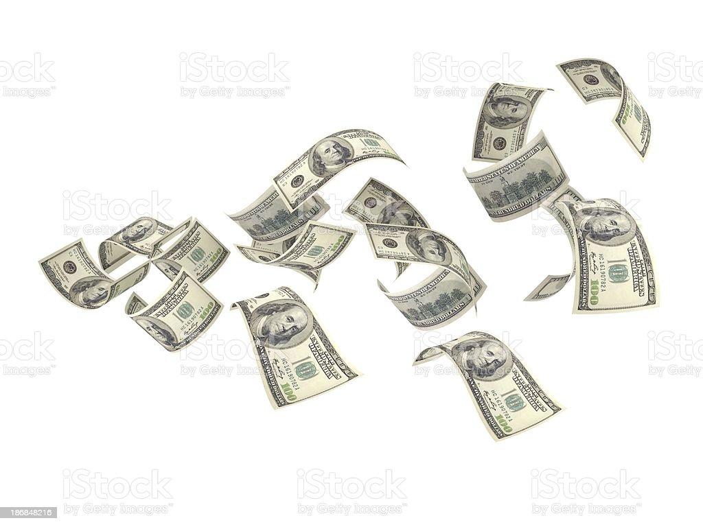 Flying Money stock photo