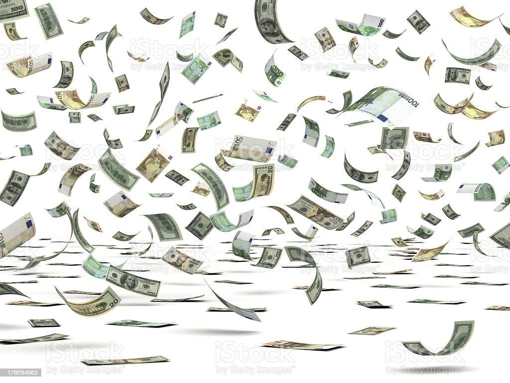 Flying Moneys royalty-free stock photo