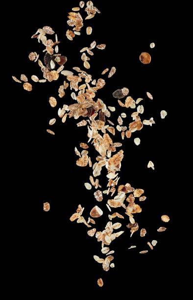 flying muesli - granola imagens e fotografias de stock