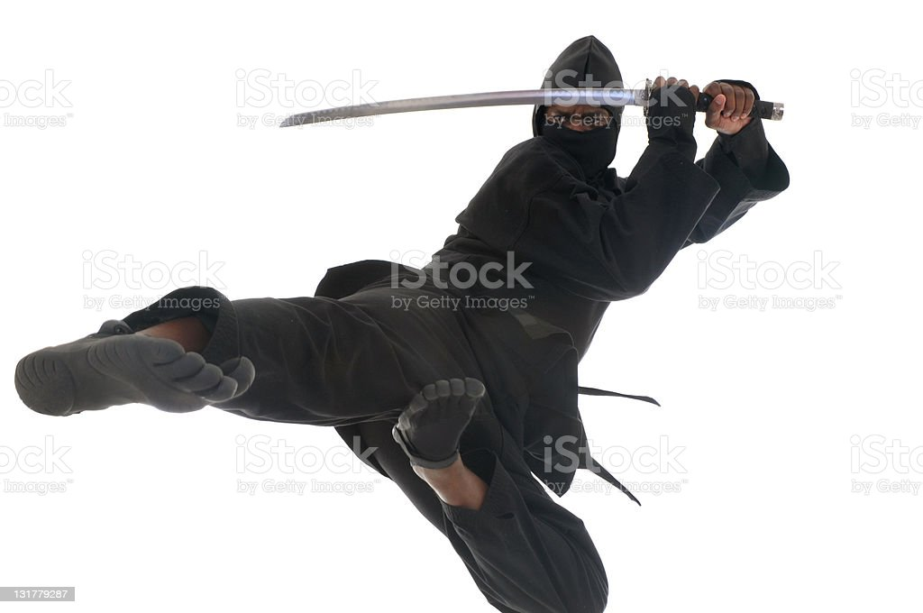 Flying Ninja stock photo