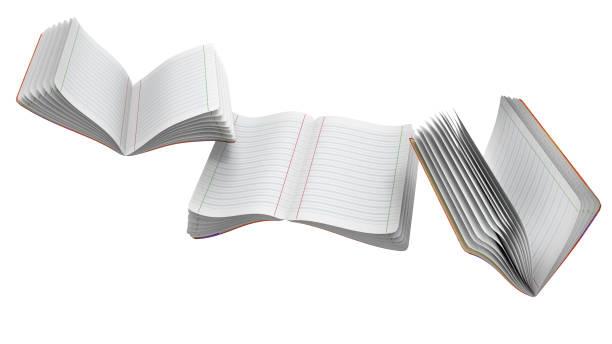 Cadernos voadoras - foto de acervo