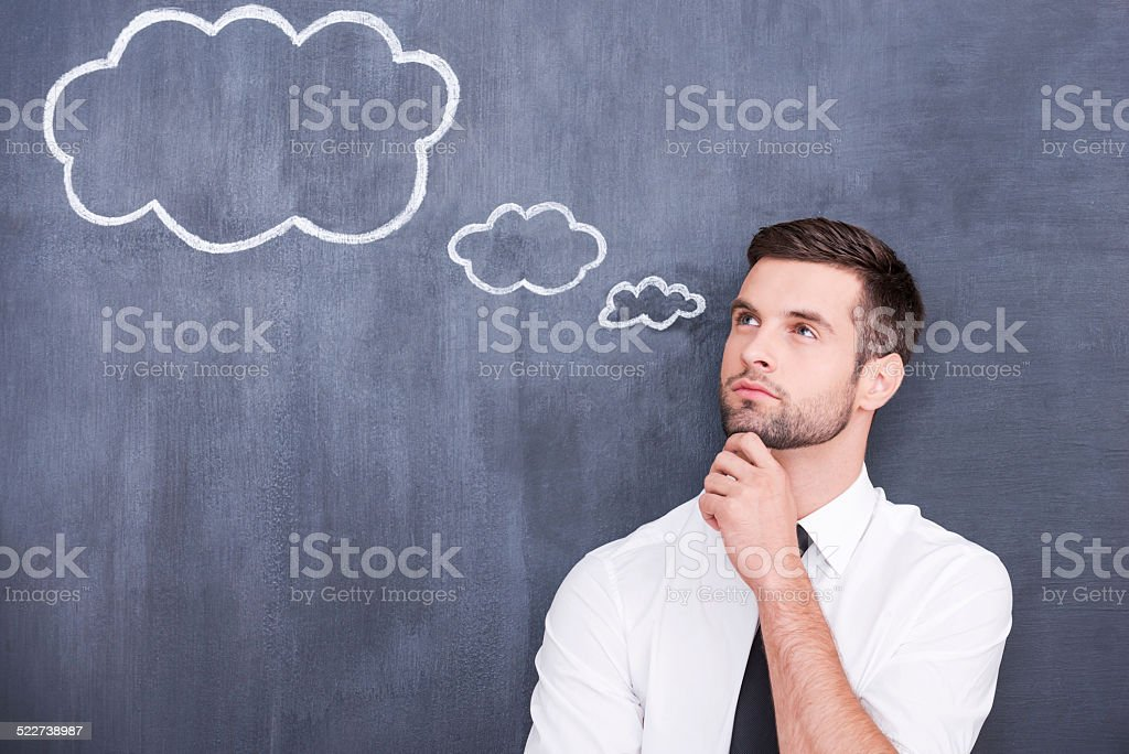 Flying of thoughts. stock photo