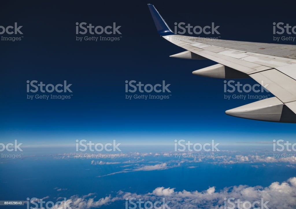 Flying on the edge of orbit stock photo