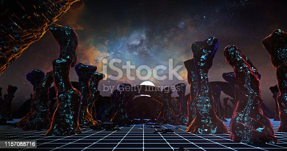 512407584 istock photo Flying On The Mountain In Sci-fi Stone 03 1157088716