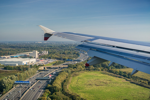 istock Flying over a highway, United Kingdom 1075442818