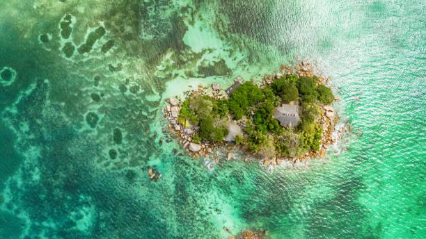 작은 섬-세이셸 이상의 비행 - 마헤 섬 뉴스 사진 이미지