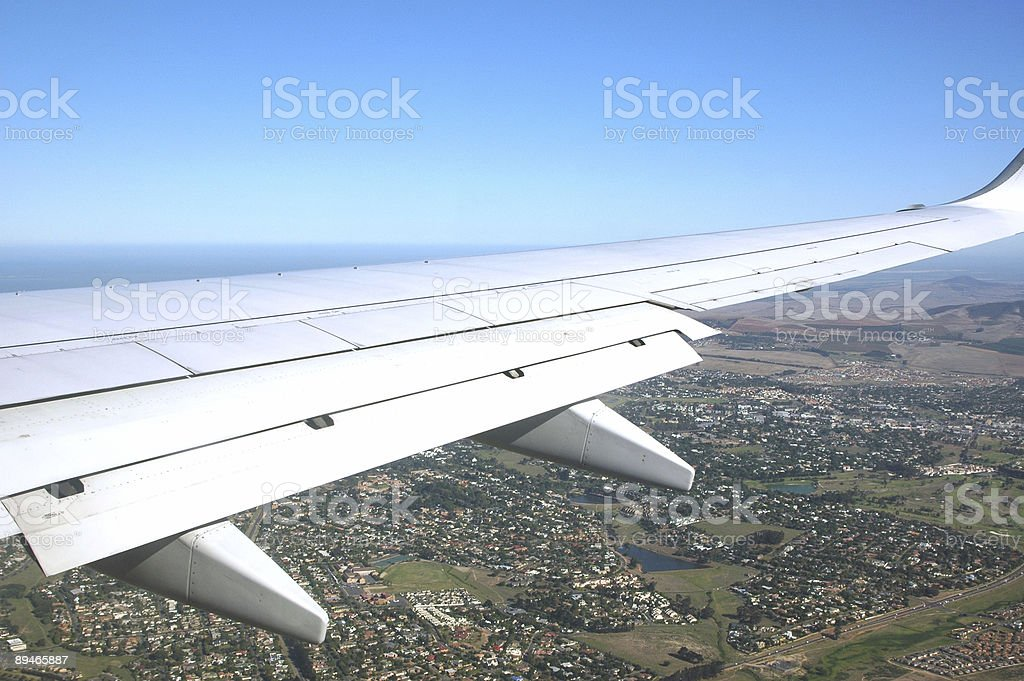 Flying over Cape Town royalty-free stock photo
