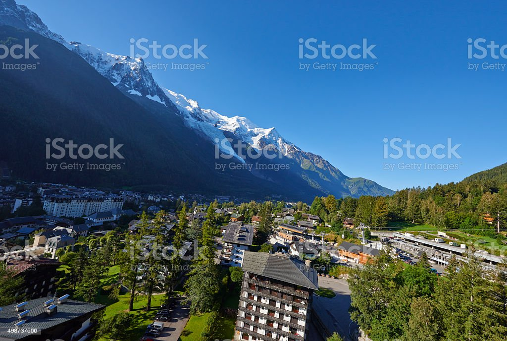 Flying Over Chamonix stock photo