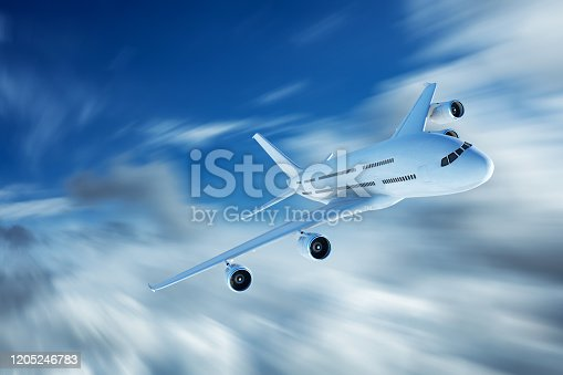 155380716 istock photo Flying over clouds 1205246783