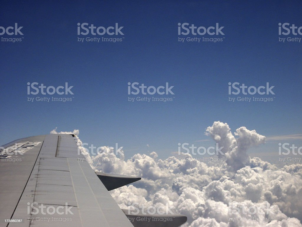 Flying Over Clouds royalty-free stock photo
