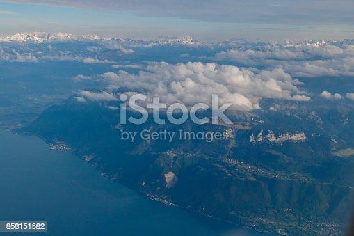 484616224 istock photo Flying over Geneva lake in Switzerland 858151582