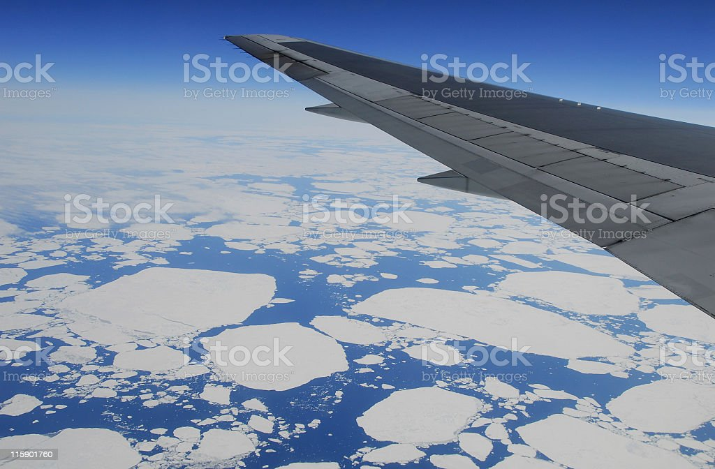 Flying over Greenland royalty-free stock photo