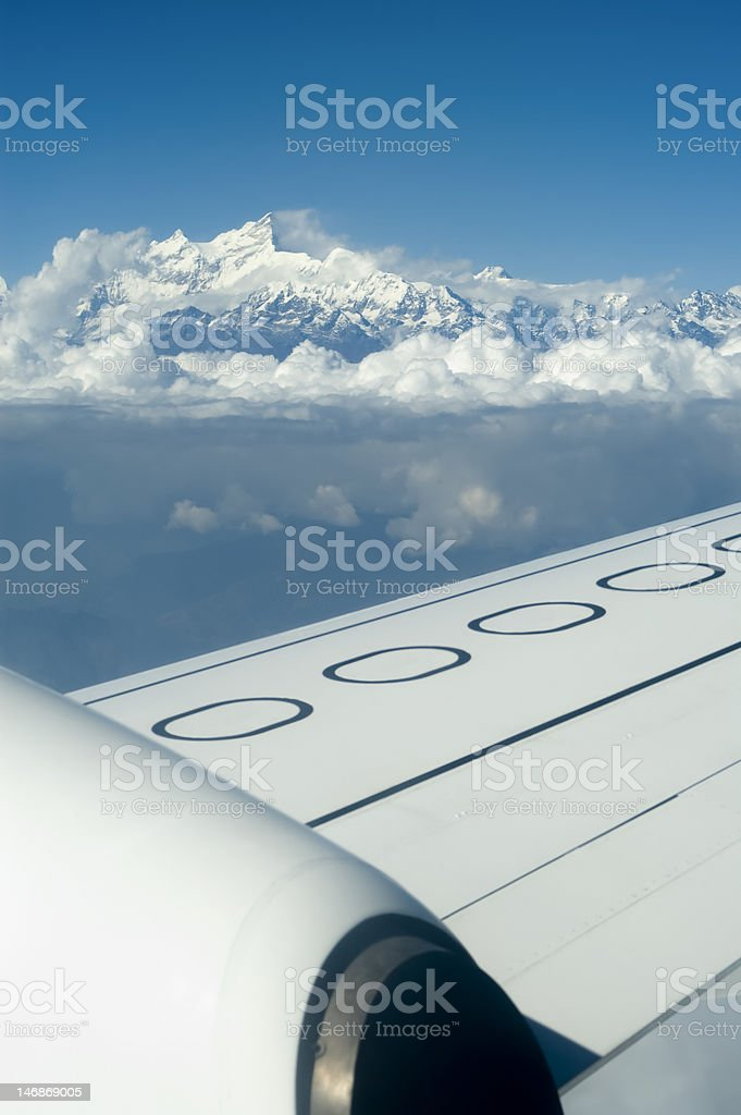 Flying over himalaya royalty-free stock photo