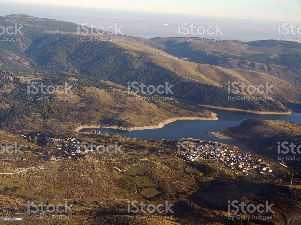 flying over lake royalty-free stock photo