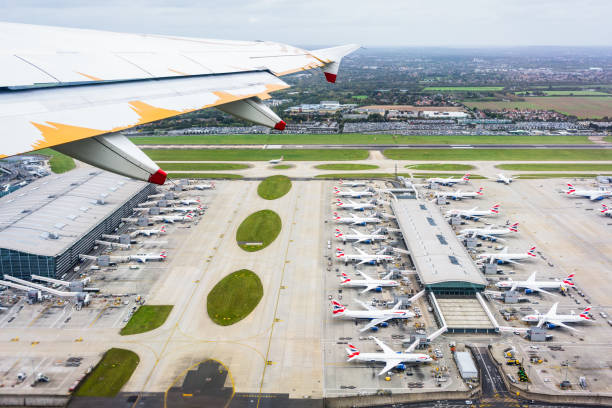 Flug über London Heathrow Terminal 5 – Foto