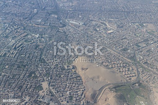 Lima Peru - May 11 : Aerial view of the City of Lima. May 11 2016, Lima Peru.