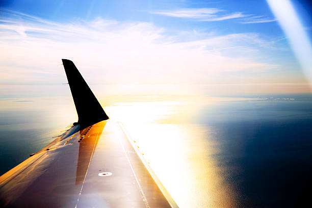 Flying over stock photo
