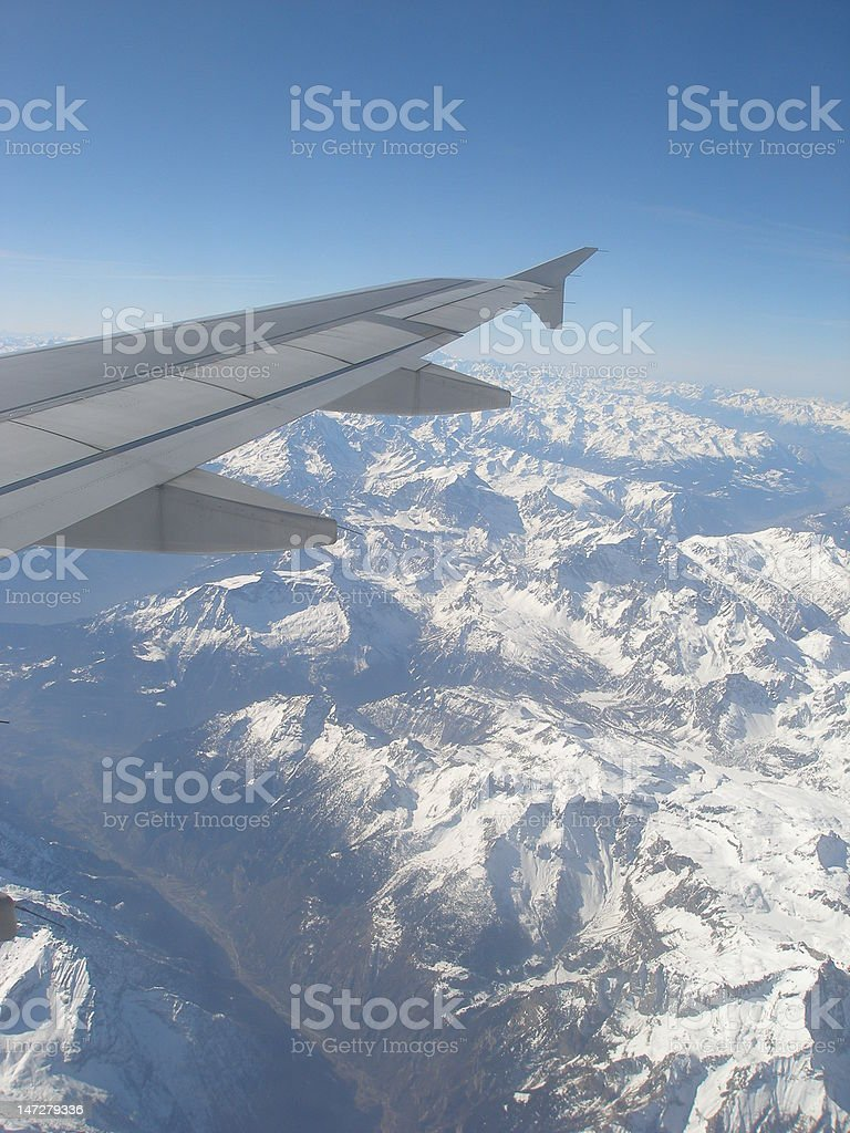 Flying over the Alps royalty-free stock photo
