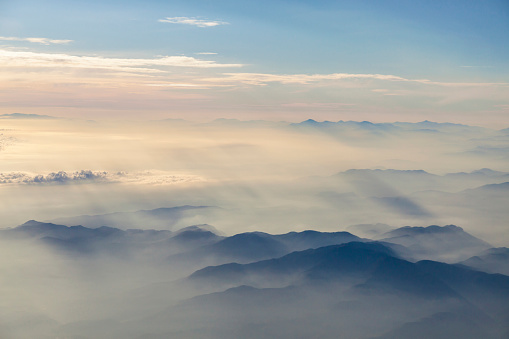 istock Flying over the clouds 540203788