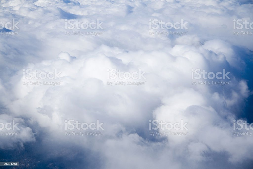Flying Over the Clouds royalty-free stock photo