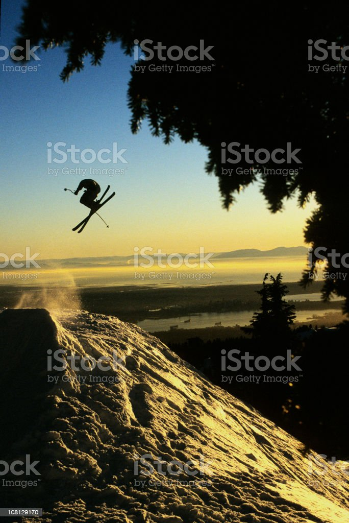 Flying over Vancouver royalty-free stock photo