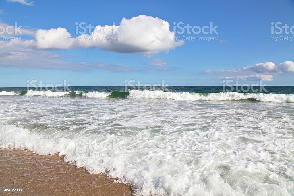 Flying Point Beach, Watermill, New York stock photo